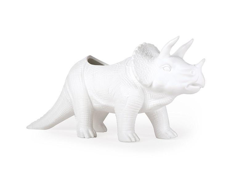 Tricerapot: Dinosaur Shaped Planter - Triceratops plant holder