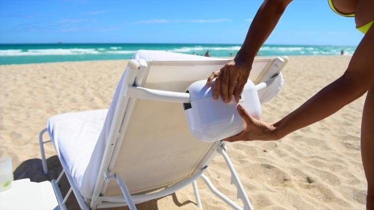 AquaVault Safe For The Beach - Secure Your Valuables At The Beach - Locks To Chair