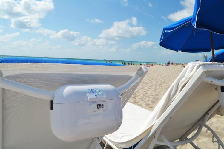 AquaVault Safe For The Beach - Secure Your Valuables At The Beach - Locks To Beach Chair