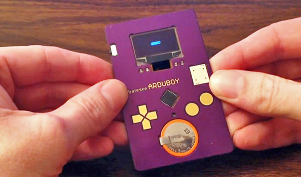 Arduboy Credit Card Sized Gaming Device - Tiny Game Boy