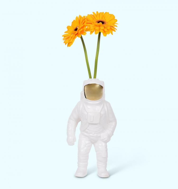Astronaut Flower Vase - Space Man Vase