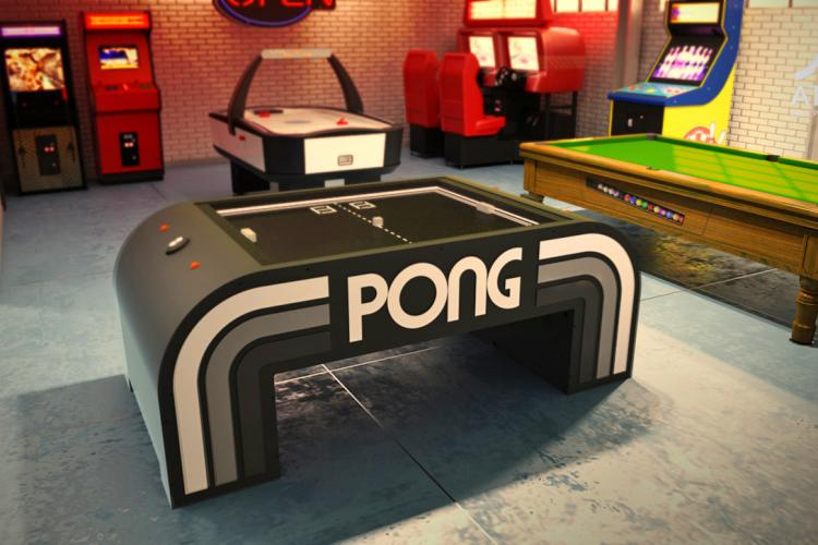 ATARI Pong Coffee Table - Real Life Pong Table