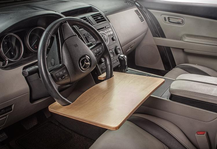 AutoExec WheelMate Steering Wheel Tray Table - Car Steering Wheel tray lets you eat and work in the car