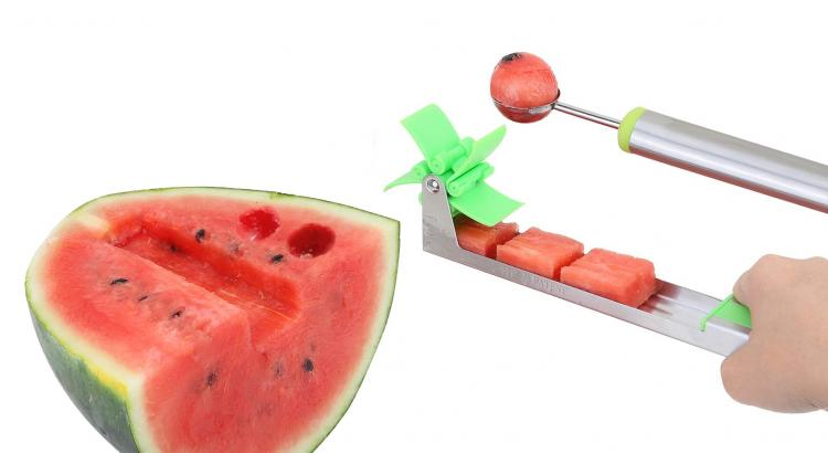 Automatic Watermelon Cube Slicer With Rotating Slicer Blades - Quickest watermelon slicer