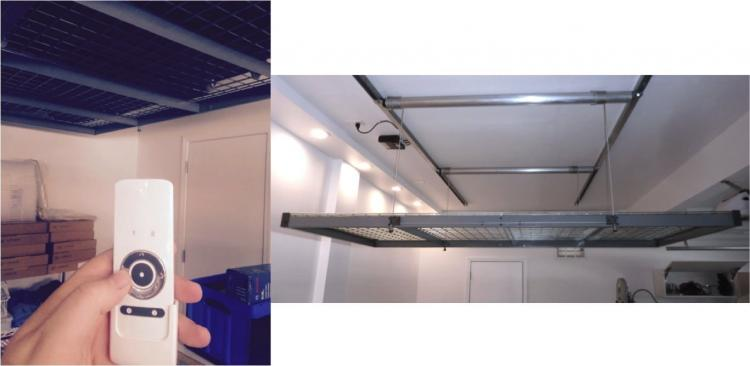 Garage Lift System >> Auxx-Lift: A Remote Controlled Storage Lift For Your Garage