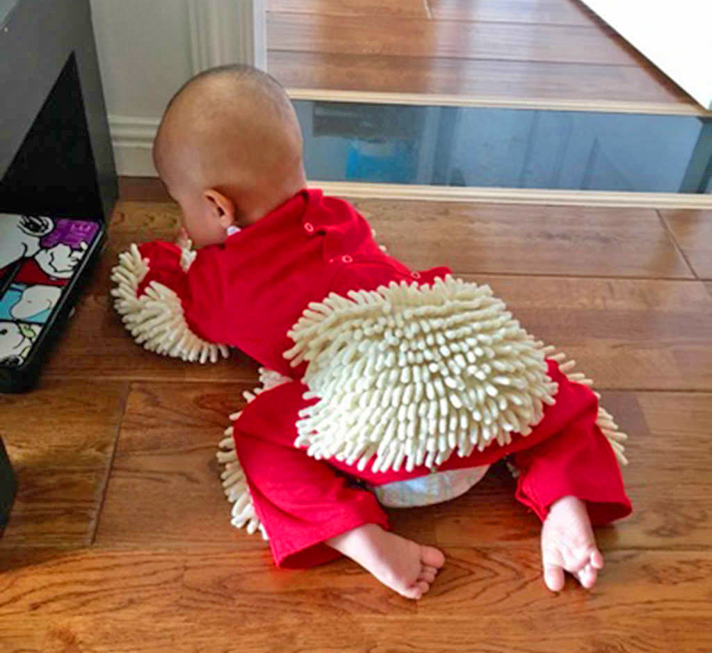 You Can Now Get A Baby Mop Onesie So Your Baby Can Help You Clean