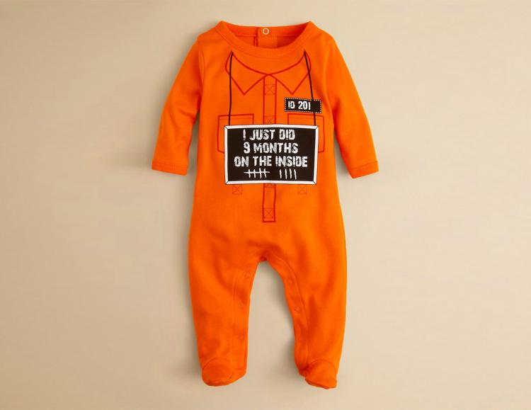 9 Months On The Inside Baby Onesie Halloween Costume - 9 months of hard time baby onesie costume