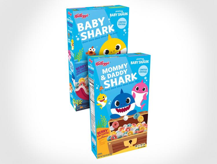 Baby Shark Cereal - Kellogg's Baby Shark Kids Breakfast Cereal
