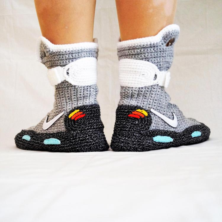 detailed look edf9b 513cd Back To The Future Shoes Knitted Slippers