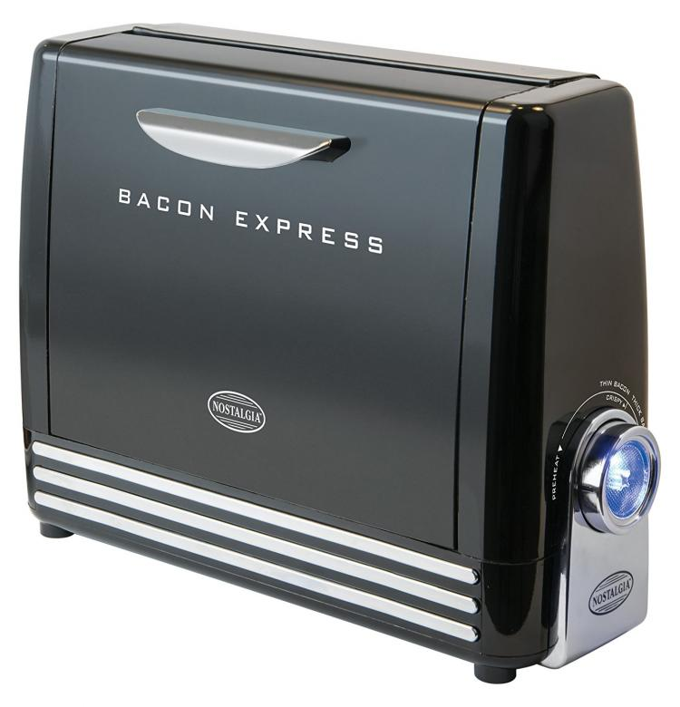 Nostalgia Bacon Express - Instant Bacon Making Grill - Quick Bacon Maker