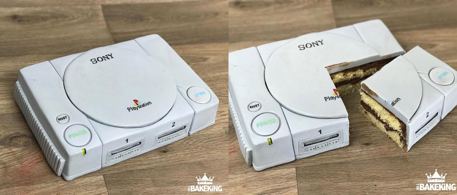 PlayStation Cake - Realistic Game Console Cake