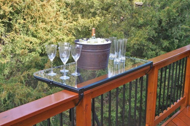 DeckMate Balcony Railing Tray Table