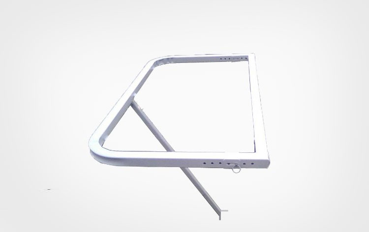 DeckMate Balcony Railing Tray Table - White
