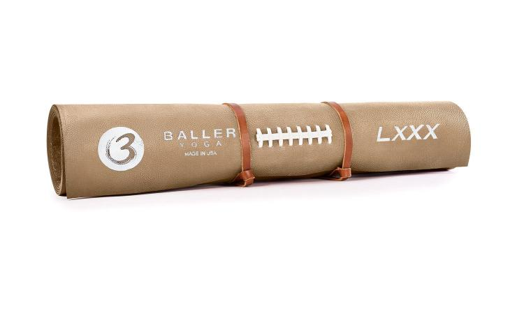 Baller Yoga - Yoga Mat Made From Football Leather - Pigskin Yoga Mat
