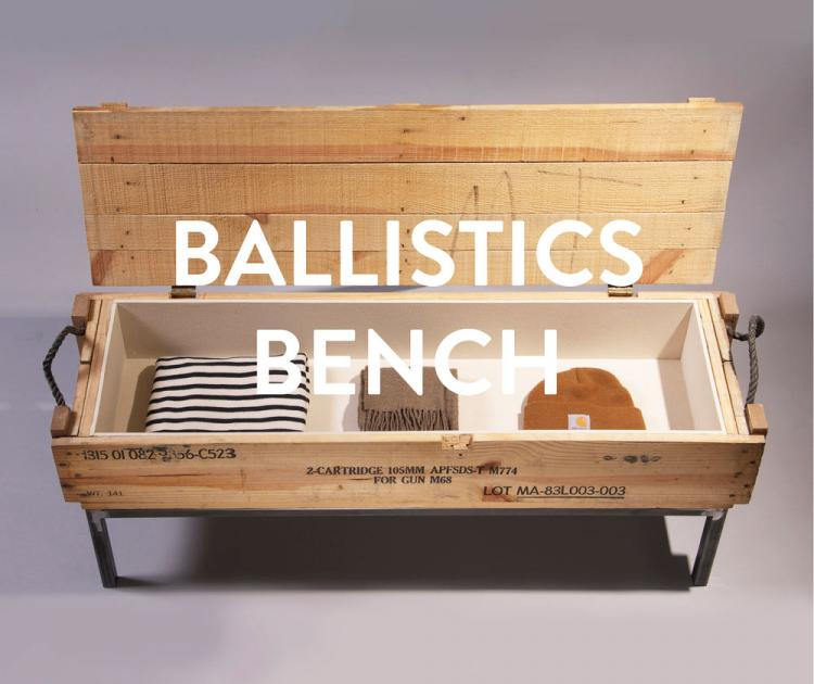Ballistics Bench - Bench Made From Ammo Boxes