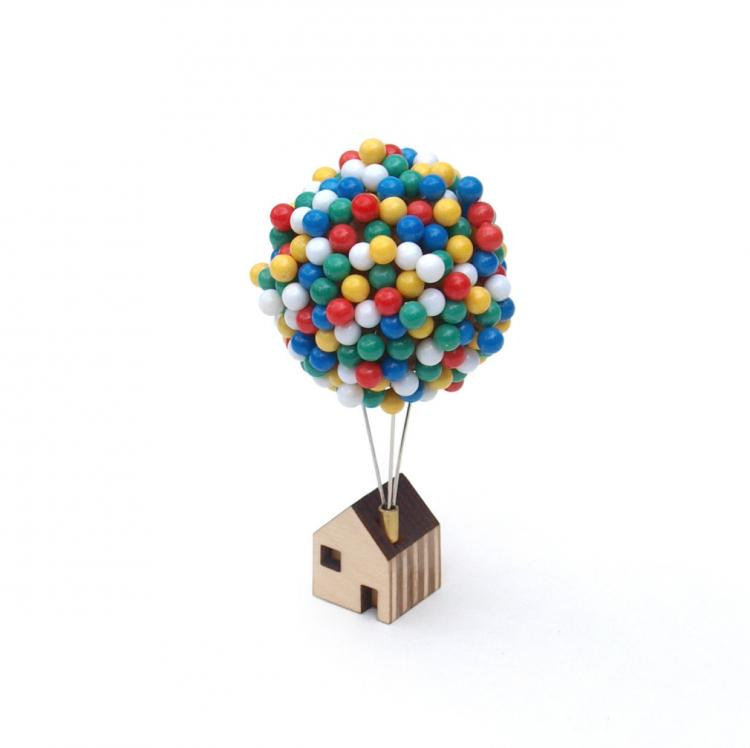 Balloon House Pin Holder - Pixar Up House Pin Cushion