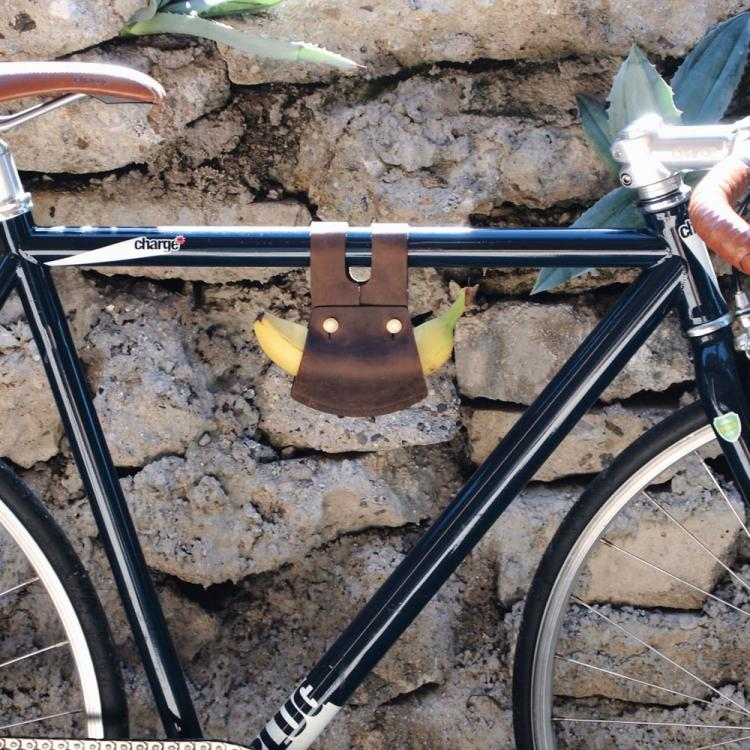 Banana Holder For Your Bike - Leather bicycle banana holder