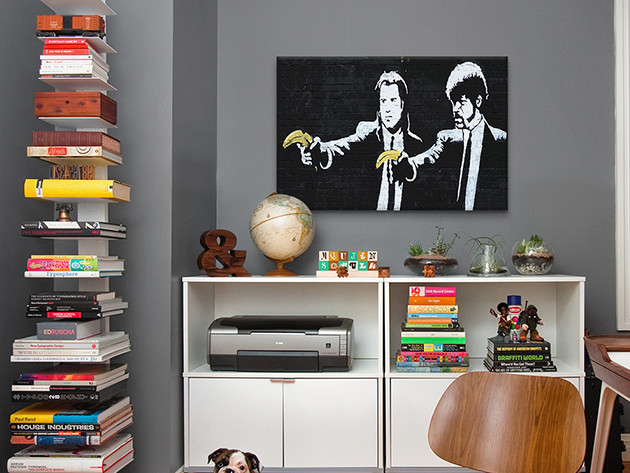 Banksy 'Pulp Fiction Bananas' Stretched Canvas Art