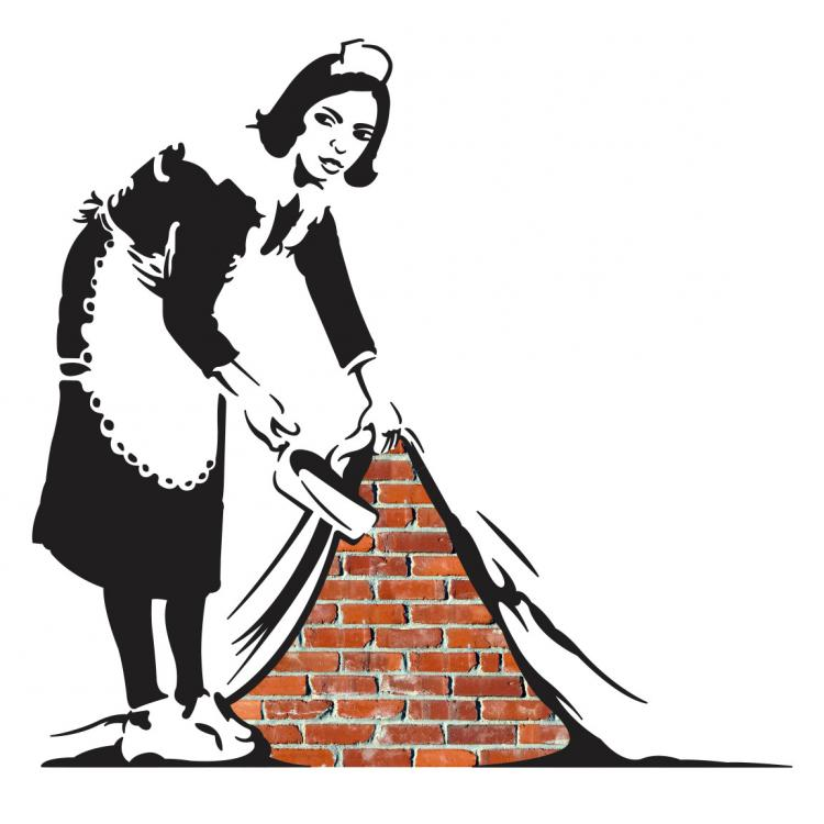Banksy Sweep It Under The Rug Wall Decal