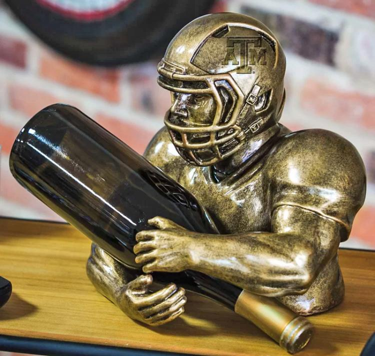 H & K Steel Sculpture Wine Bottle Holder / Caddy - Soccer ...  Soccer Wine Holder