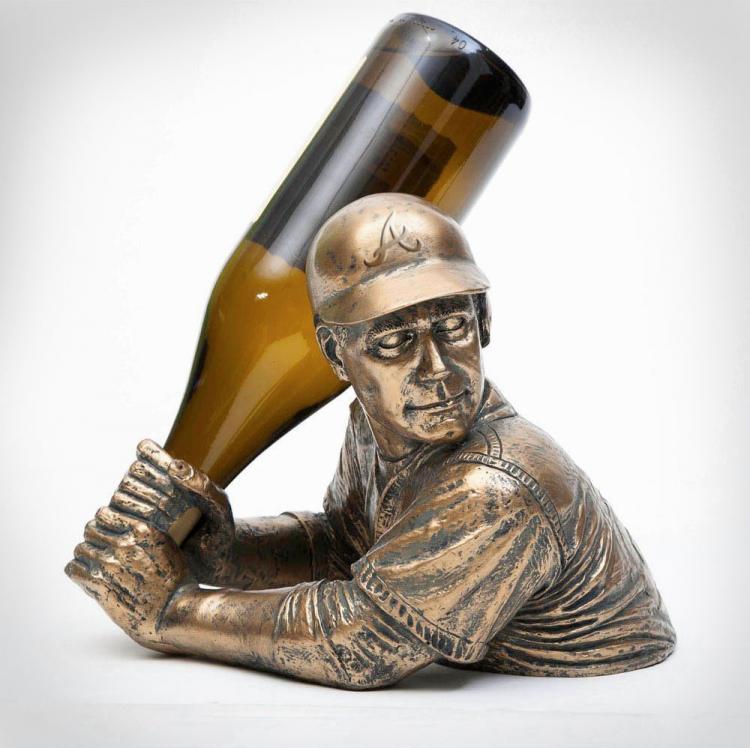 Baseball Player Wine Holder