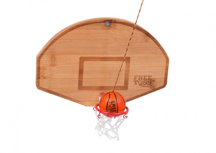 Basketball and Hoop Free Toss Hook and Ring Game