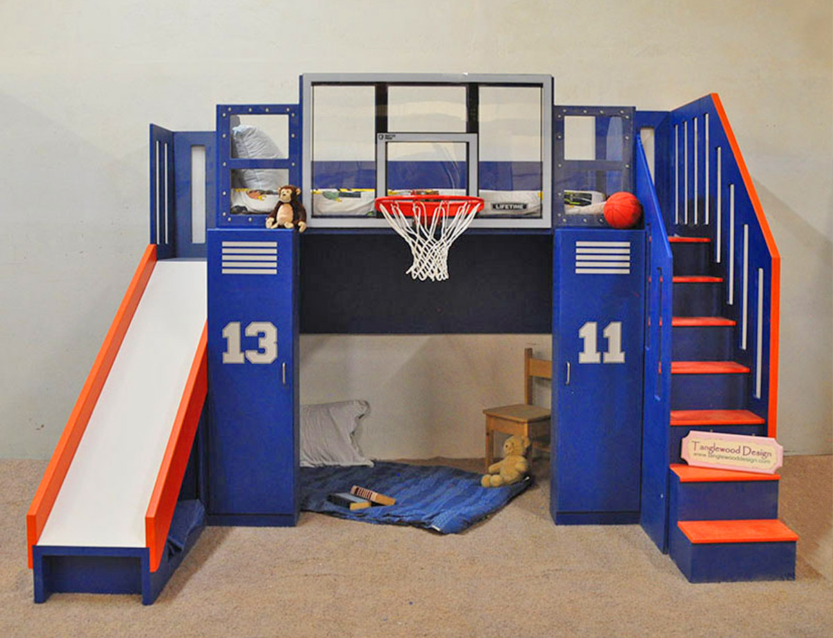 Picture of: You Can Now Get Your Kid A Basketball Hoop Bunk Bed