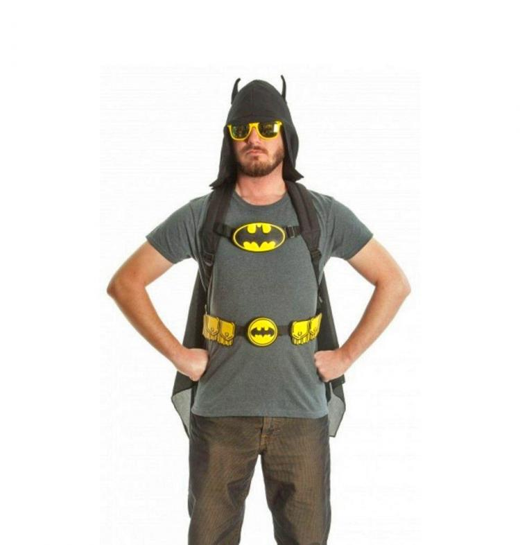 Batman Backpack With Hoody And Wings - Hooded Batman Backpack