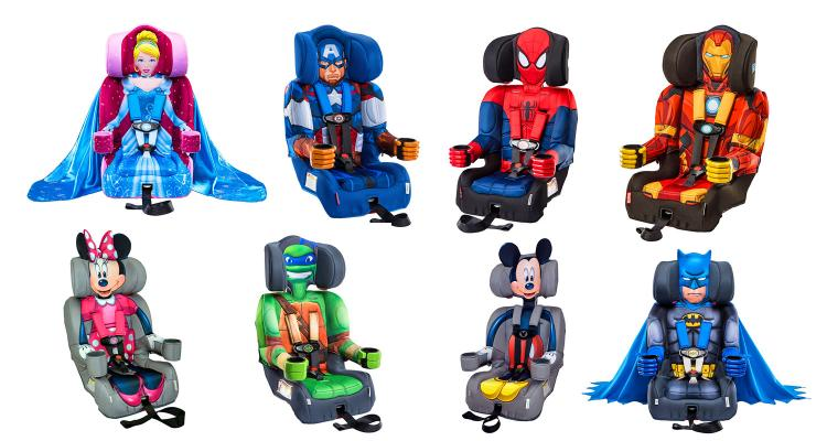 The Fun Car Seat Comes In A Ton Of Different Character Options Including Spiderman Iron Man Cinderella Ninja Turtles Captain America Mickey Mouse