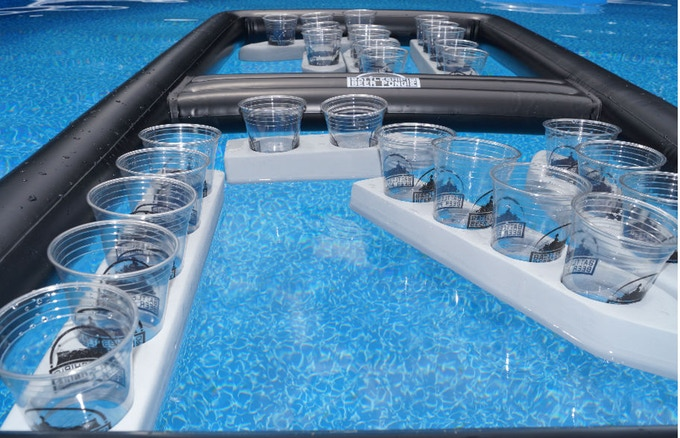 Beer Pong Battleship - Floating Battleship beer pong for the pool or lake
