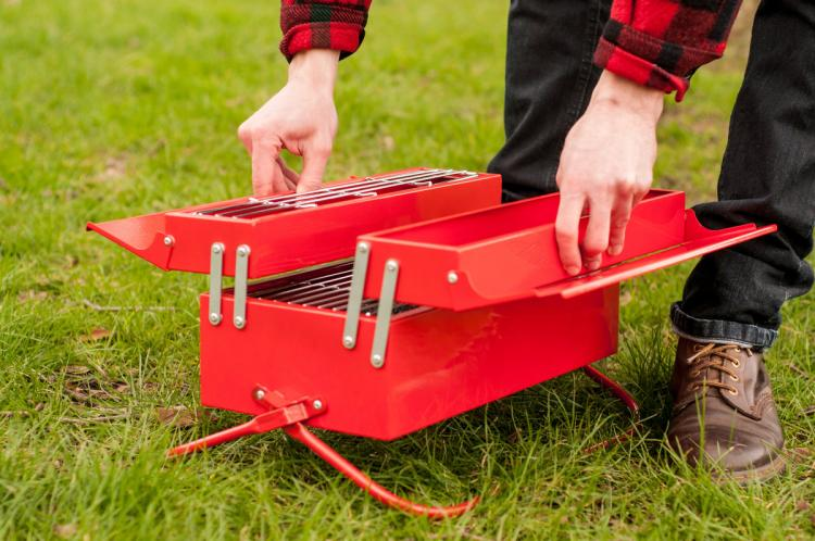 BBQ Toolbox - Mobile Travel Grill Looks Like a Toolbox