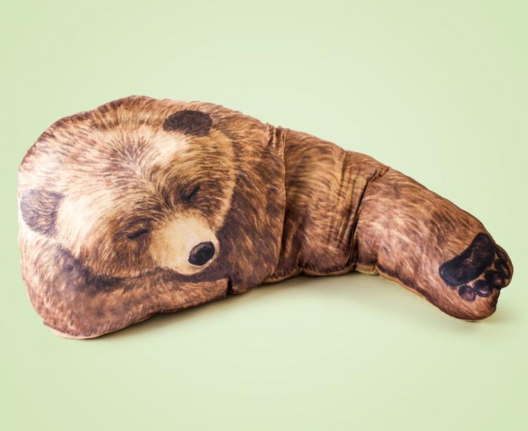Bear Hug Pillow - Grizzly Bear