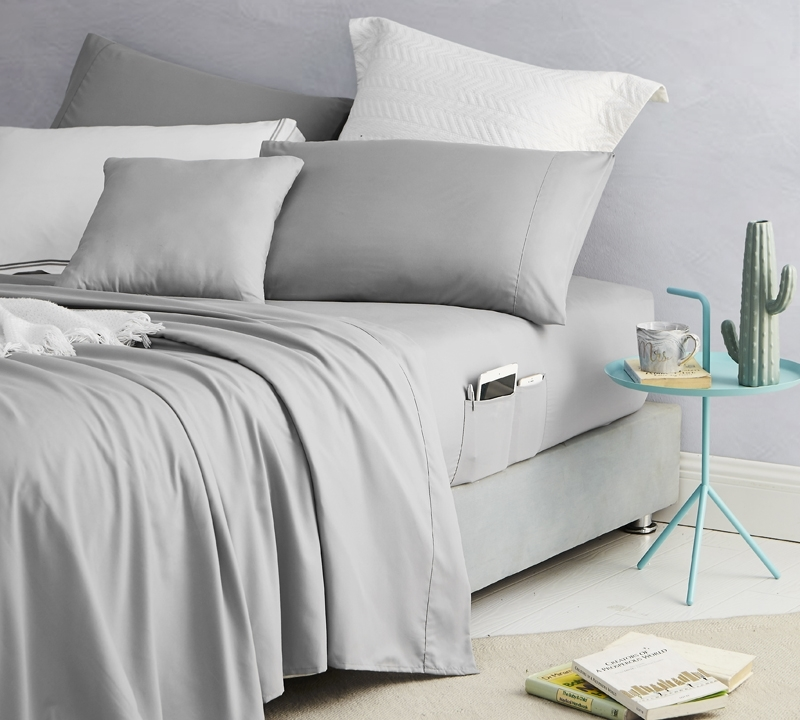 Bed Sheets With Pockets On The Side - Fitted sheets with storage pockets on both sides of bed