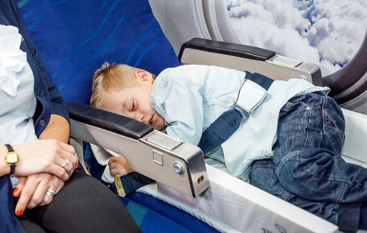 BedBox Rideable Child Luggage - Kids Carry-on acts as plane seat bed