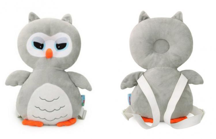 Owl Shaped Baby Head Protector backpack - animal shaped flat head shaper pillow
