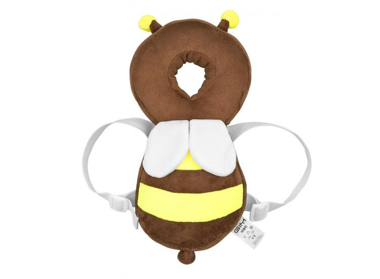 Bee Shaped Baby Head Protector backpack - animal shaped flat head shaper pillow