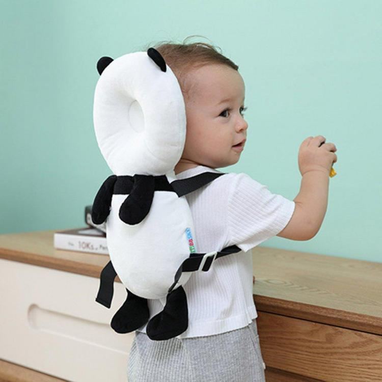 Panda Shaped Baby Head Protector backpack - animal shaped flat head shaper pillow