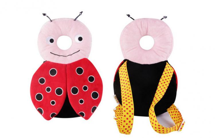 Bug Shaped Baby Head Protector backpack - animal shaped flat head shaper pillow