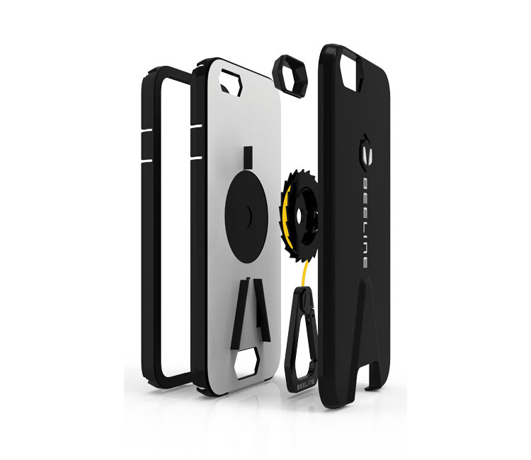 This Iphone Case Has A Retractable Kevlar Cord With An