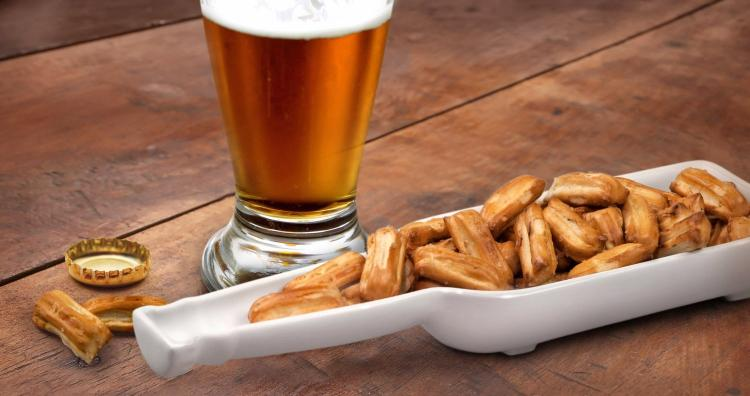 Beer Bottle Shaped Snack Bowl