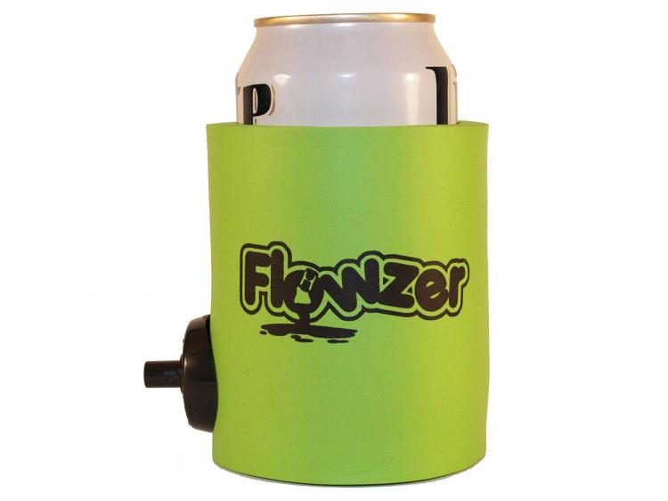 Beer Koozie With Optional Shotgun Button - Flowzie Flozer beer koozie shotgun cooler