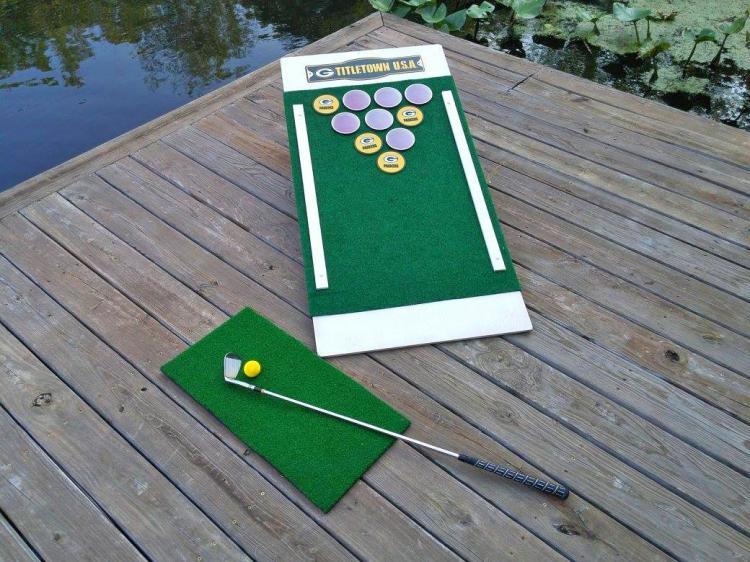 Beer Pong Golf: Chip Golf Balls Onto a Cornhole Board