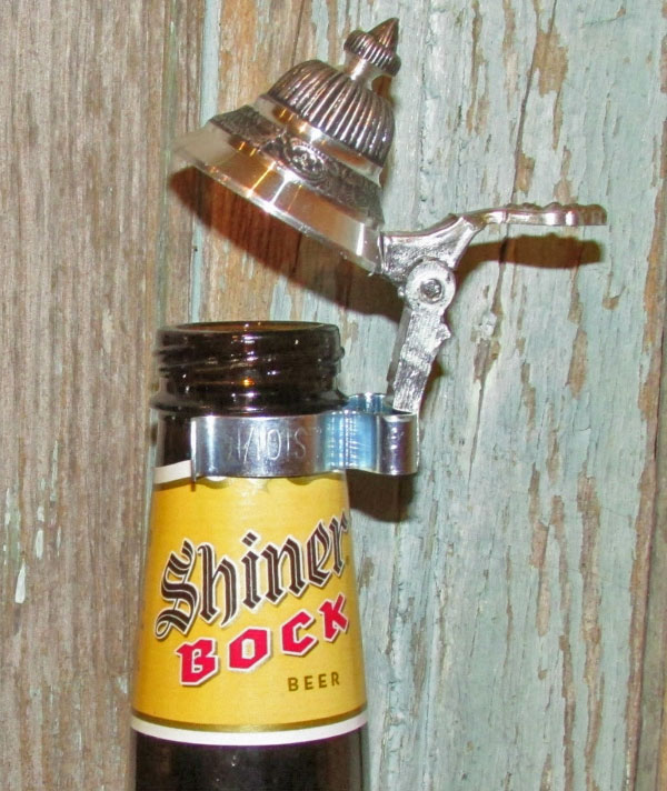 Mini Pewter Stein Beer Bottle Attachment