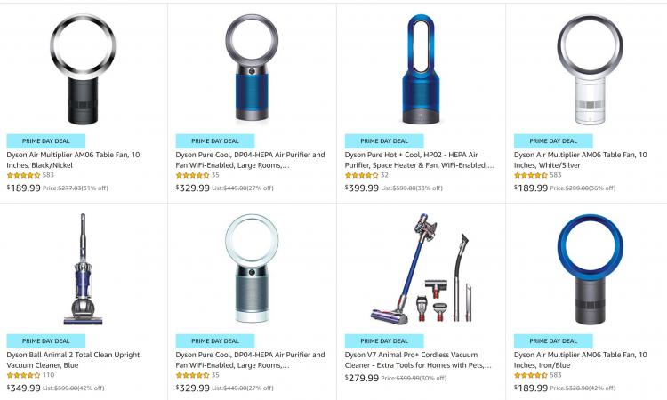 Best Dyson Vacuum deals - Best dyson bladeless fan deals - Best amazon prime day 2019 deals