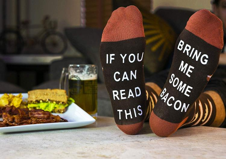 If You Can Read This Bring Me Bacon Socks