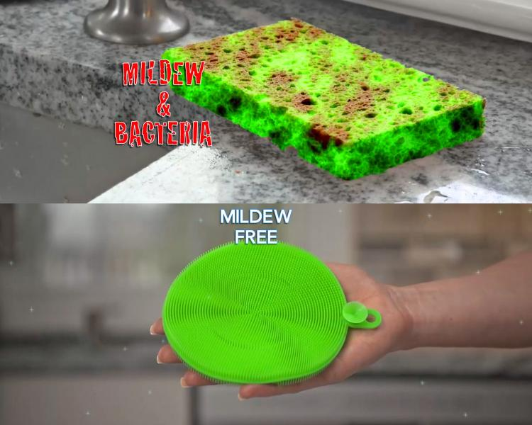 Better Sponge - Unique Multi-purpose sponge, jar opener gripper, oven mitt, pet hair collector - Incredible silicone fingers sponge