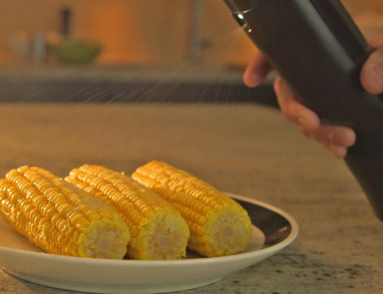 Biem Butter Spray Canister - Butter Sprayer Melts brick of butter for spraying - Shark Tank Butter Gadget