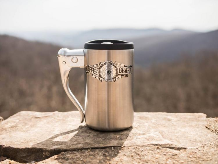 Coffee Brake Mug - Coffee Mug Uses Bicycle Brake Handle