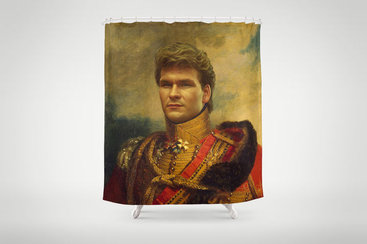 Patrick Swayze Shower Curtain