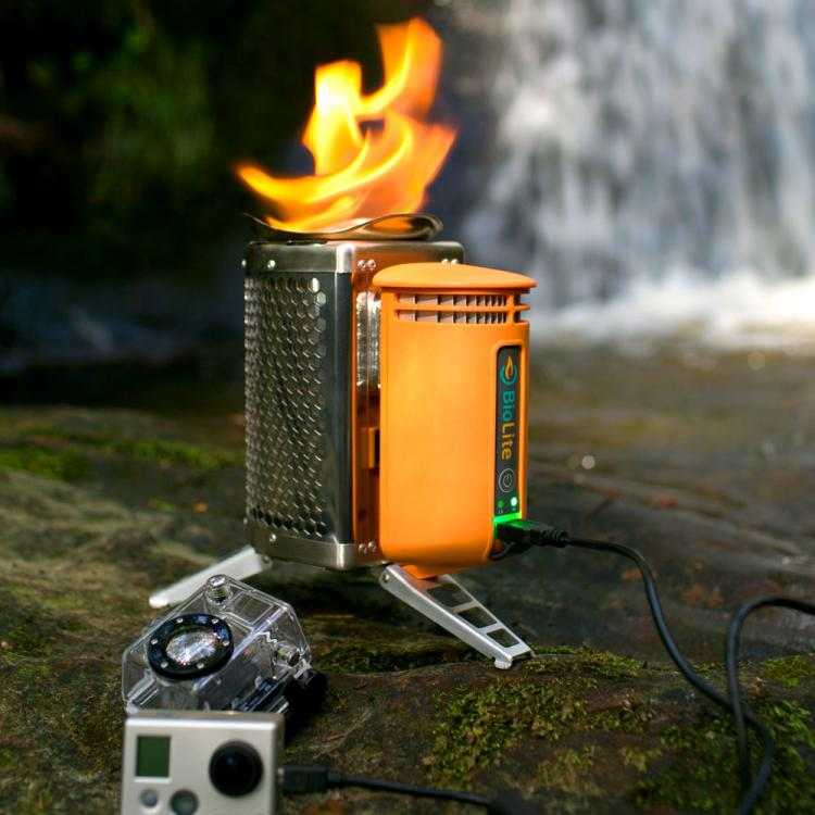 Biolite Wood Burning Camping Stove Charges Your Phone - Phone Charging Campstove